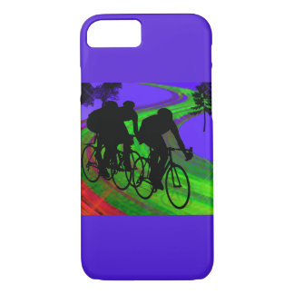 Cycling Trio on Ribbon Road iPhone 8/7 Case