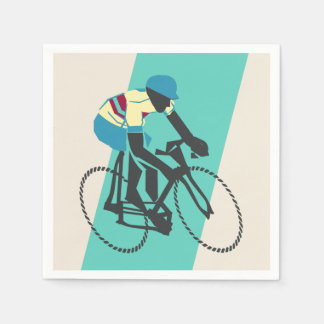 Cycling (Turquoise) Disposable Serviettes