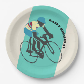 Cycling (Turquoise) Paper Plate