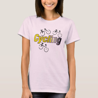 Cycling with Bicycle T-Shirt