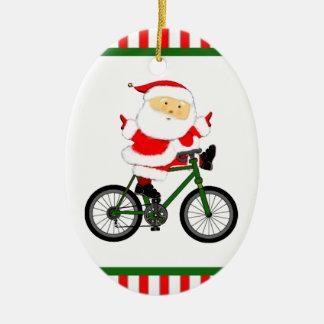 cyclist Christmas ornament