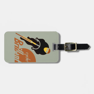 Cyclist cycling bike rider riding a bicycle luggage tag