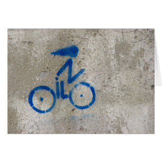Cyclist Graffiti Card