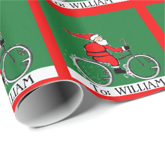 Cyclist Holidays Wrapping Paper