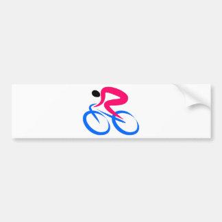 Cyclist Icon Bumper Sticker