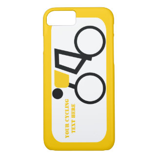 Cyclist riding his bicycle custom iPhone 8/7 case