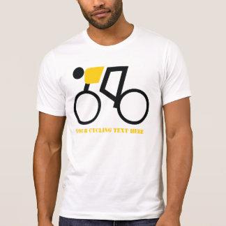 Cyclist riding his bicycle custom T-Shirt