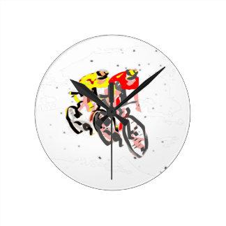 cyclist round clock