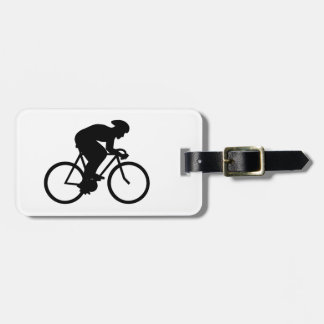 Cyclist Silhouette. Luggage Tag
