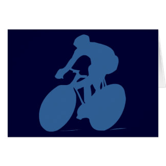Cyclist Silhouette Note Cards