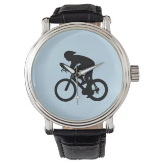 Cyclist silhouette watch