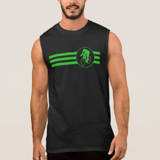 Cyclist Stripes (Green) Sleeveless Shirt