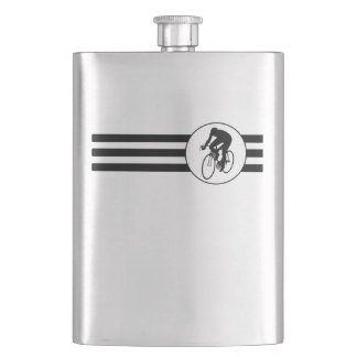 Cyclist Stripes Hip Flask