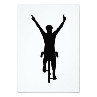 Cyclist winner 9 cm x 13 cm invitation card