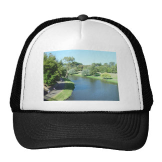 Cyclists By The River Torrens In Adelaide At South Trucker Hat
