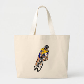 Cyclists Large Tote Bag