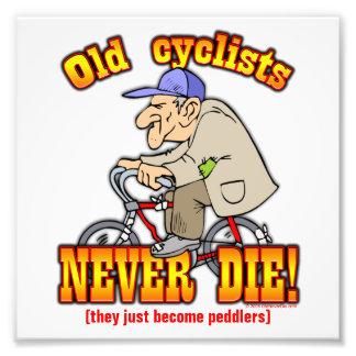 Cyclists Photo Print