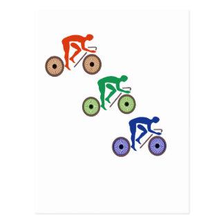 Cyclists Postcard