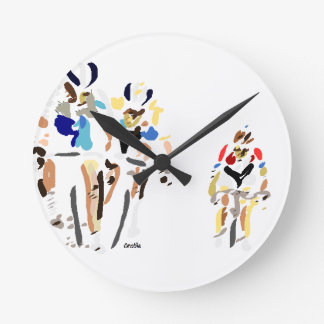 Cyclists Round Clock