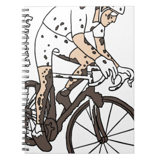 Cyclocross Rider Riding Dirty Notebooks