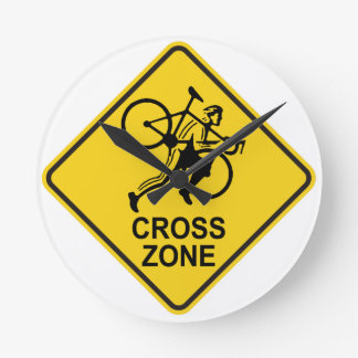 Cyclocross Zone Road Sign Clocks