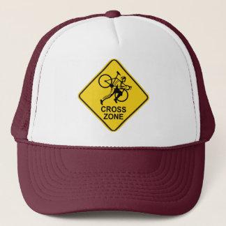 Cyclocross Zone Road Sign Trucker Hat