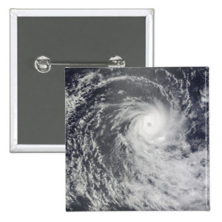 Cyclone Anja over the Southern Indian Ocean 15 Cm Square Badge