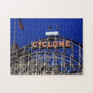 'Cyclone Rollercoaster at Night' Jigsaw Puzzle
