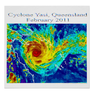 Cyclone Yasi 2, Queensland, february 2011 Poster
