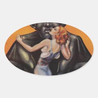 Cyclops Buddha Oval Sticker