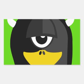 Cyclops Penguin Rectangular Sticker