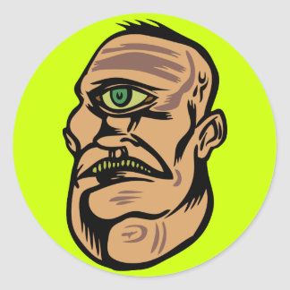 cyclops round sticker