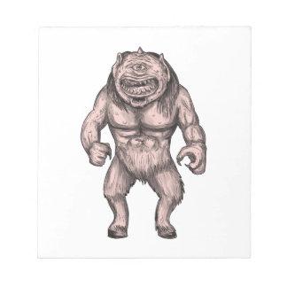 Cyclops Standing Tattoo Notepad