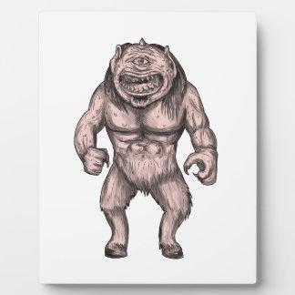 Cyclops Standing Tattoo Plaque