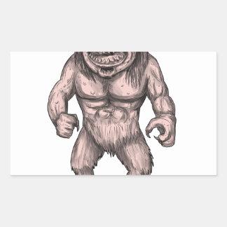Cyclops Standing Tattoo Rectangular Sticker