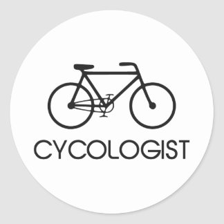 Cycologist Cycling Cycle Round Sticker