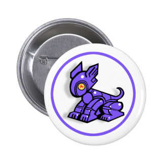 Cydo the Robot Dog. Badge. 6 Cm Round Badge