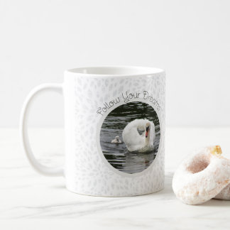 Cygnet Following Swan Coffee Mug