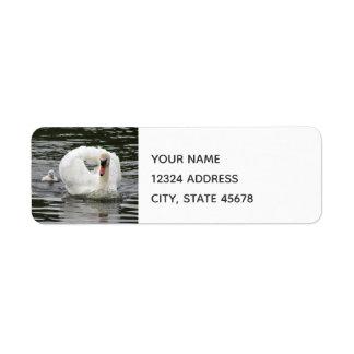 Cygnet Following Swan Return Address Label