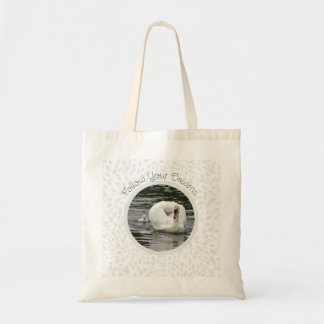 Cygnet Following Swan Tote Bag