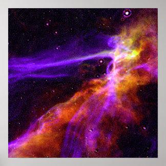 Cygnus Loop Supernova Blast Wave - Space Poster