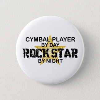 Cymbal Player Rock Star by Night 6 Cm Round Badge