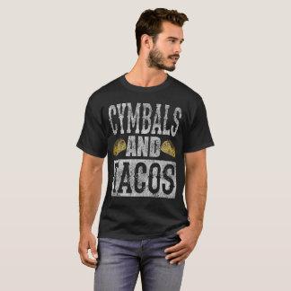 Cymbals and Tacos Funny Marching Band Taco Distres T-Shirt