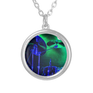 Cymbals in the Fog Silver Plated Necklace
