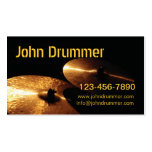cymbals, John Drummer, www.johndrummer.cominfo@... Double-Sided Standard Business Cards (Pack Of 100)