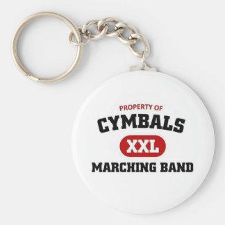 Cymbals marching band key ring