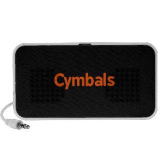 cymbals text d orange notebook speakers