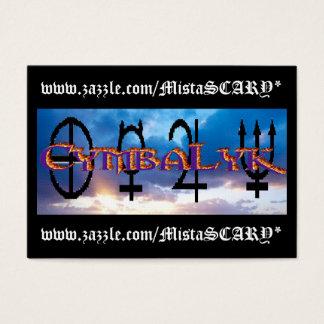 CymbaLyk Sunset Logo Business Cards