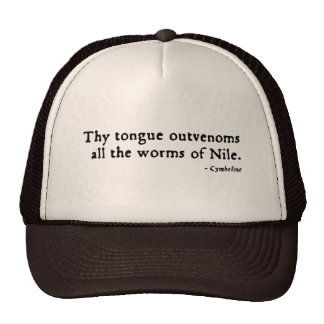 Cymbeline Worms Insult (16thC version) Hat