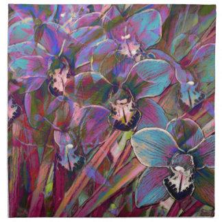 Cymbidium Orchid Carnival Napkin